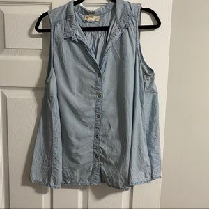 Anthropologie Tops - Anthropologie Cloth & Stone Chambray button-up top